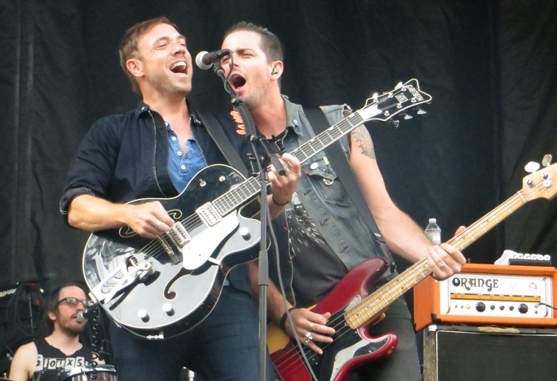 Mikel Jollett and Noah Harmon at Boston Calling, 2013. Photo by Julie.