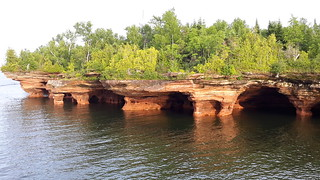 Sea caves at the Apostle Islands National Lakeshore