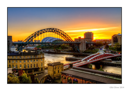 uk sunrise rooftops riverside earlymorning tynebridge hdr swingbridge sandgate newcastleupontyne rivertyne thesage tyneandwear thebaltic gatesheadquayside newcastlequayside photomatix gatesheadhilton edoliver taxoffice canonefs1755mmf28is canoneos50d tynebridgetower saintmary's newcastlehilton 7wishes newcastlefishmarket watergatebuildings 7wishesphotography