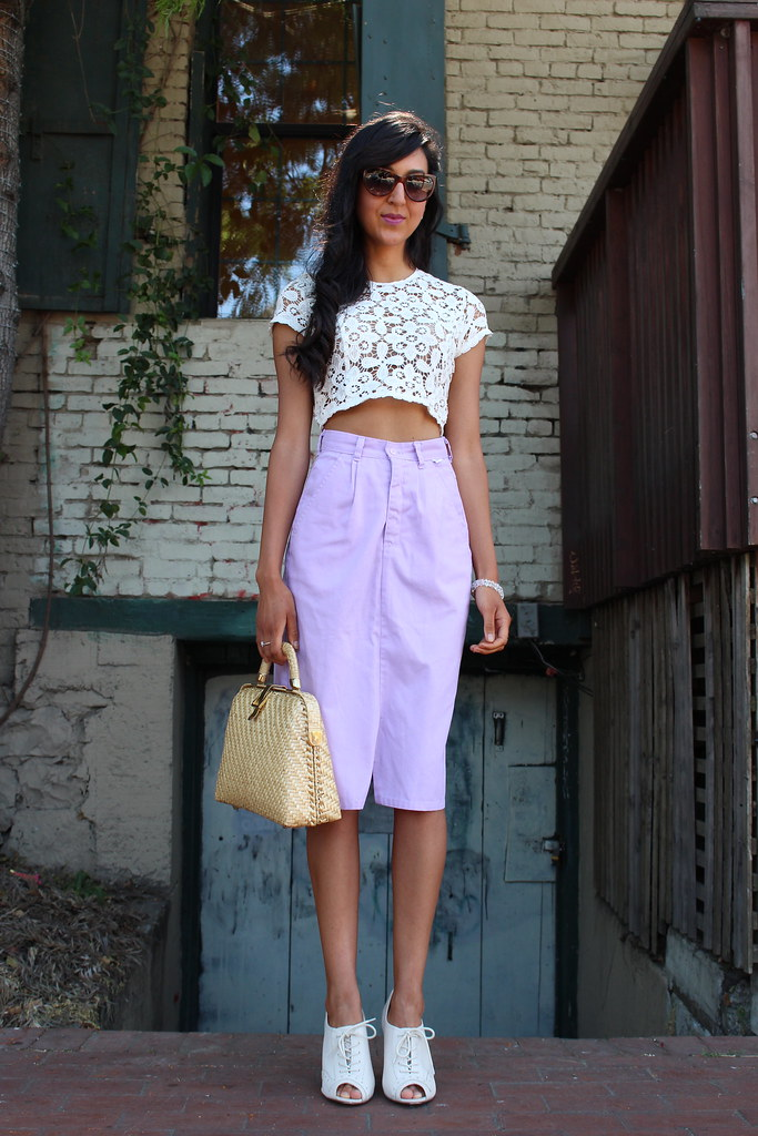 Crop Top and a Lavender Skirt 1