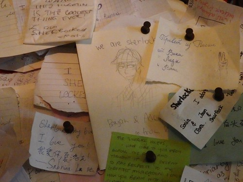 Notes Left by Fans at the Sherlock Holmes Museum in London