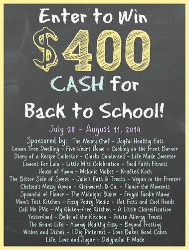 $400 CASH - Back to School #giveaway