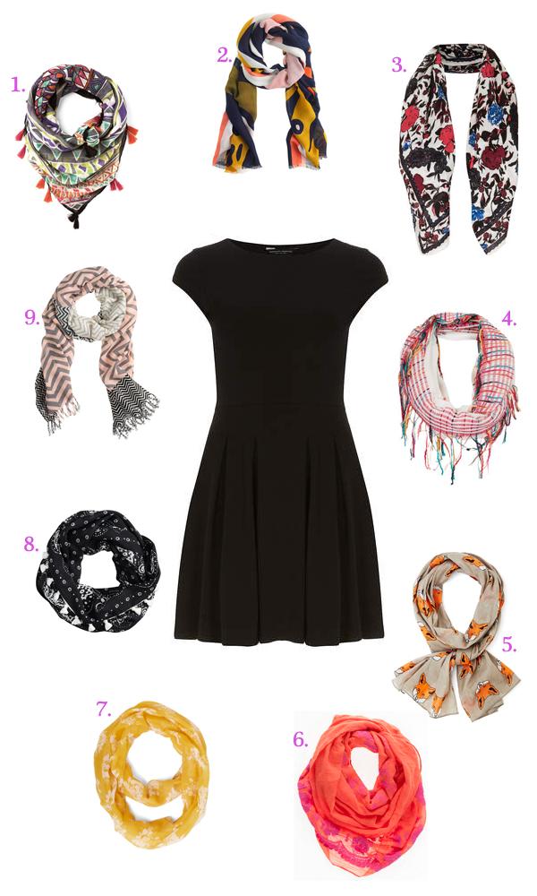 LBD scarf pairings