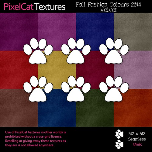 PixelCat Textures - Fall Fashion Colours - Velvet
