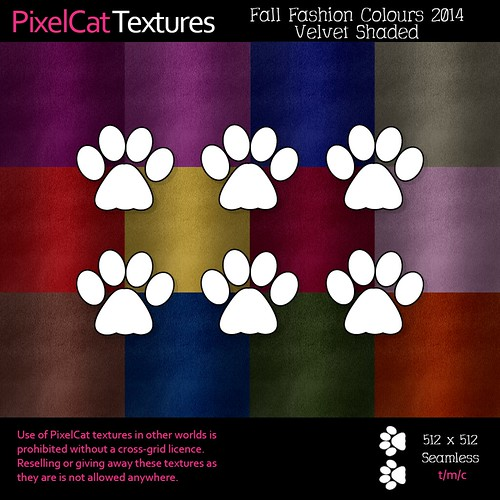 PixelCat Textures - Fall Fashion Colours 2014 - Velvet Shaded