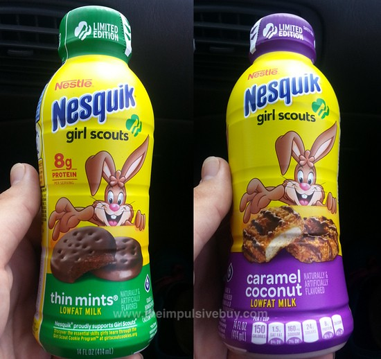 Nestle Nesquik Limited Edition Girl Scouts Thin Mints and Caramel Coconut Milk