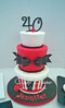40th red and black cake