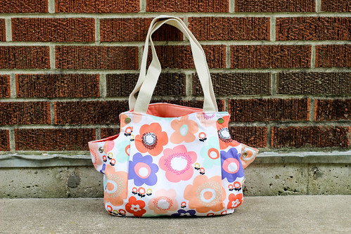 Geometric Bliss Snap Tote