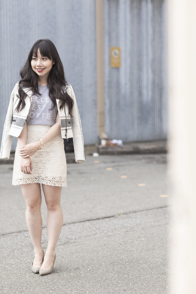 light neutral outfit