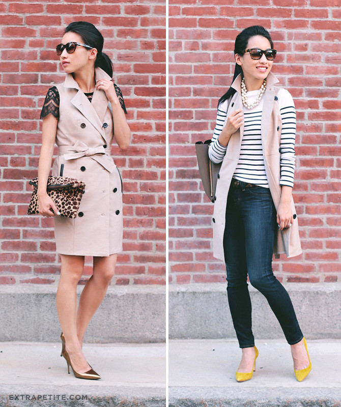 sleeveless trench 2 ways