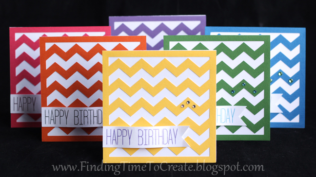 Chevron Birthday Card Set - Finding Time To Create