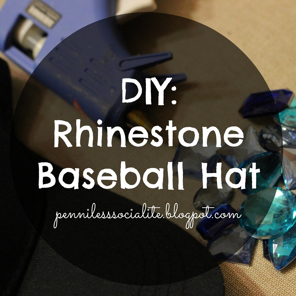 DIY Rhinestone Baseball hat 1