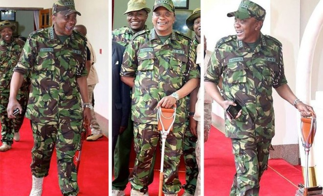 President Uhuru Kenyatta now wears Military Regalia [Photos]
