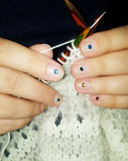 Knitting with nail art