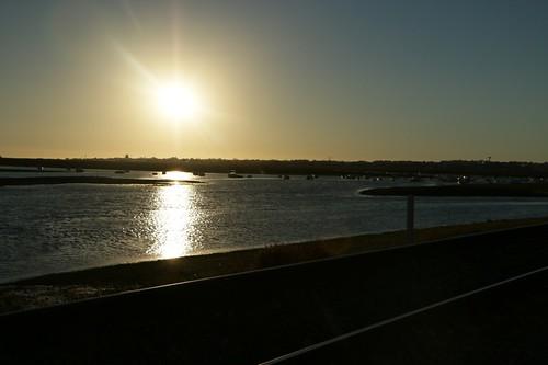 Faro: tramonto sulla laguna