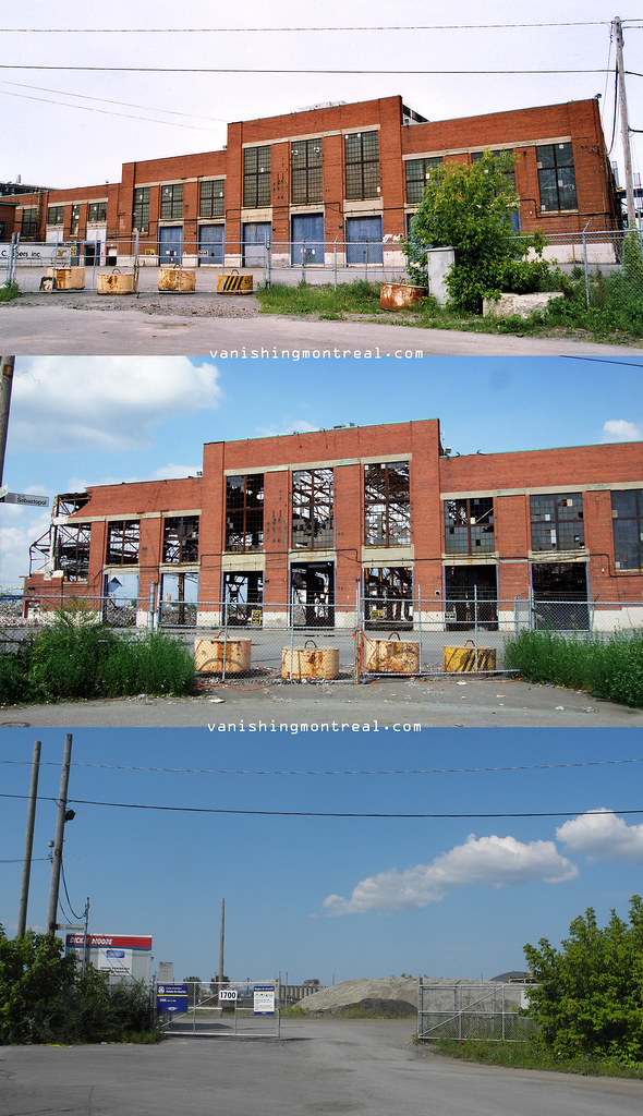 Alstom - before (2008), after fire (2009), after (2014)