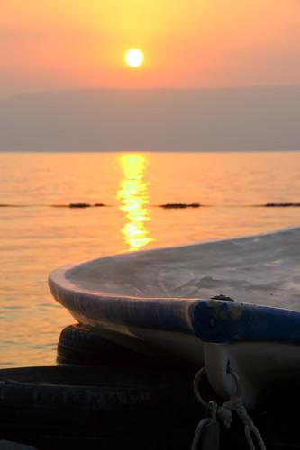 sea mer lake beach sunrise israel boat lac plage tiberias leverdusoleil bateu tiberiade