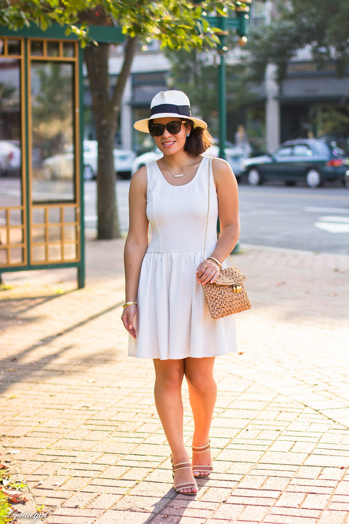 Little white dress, panama hat, straw clutch-6.jpg