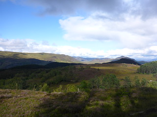 view from red/black split at laggan