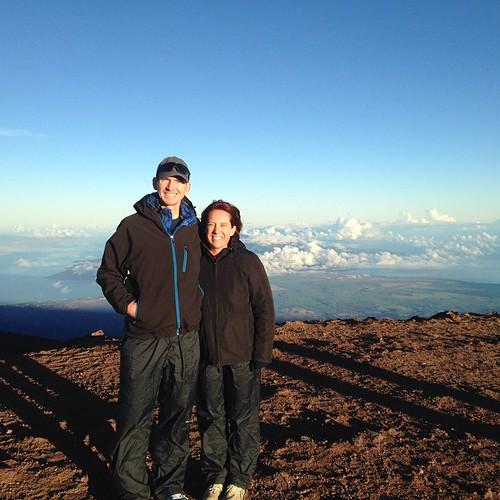 On top of Haleakala just after sunrise.
