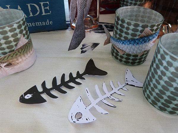 squelettes de poissons