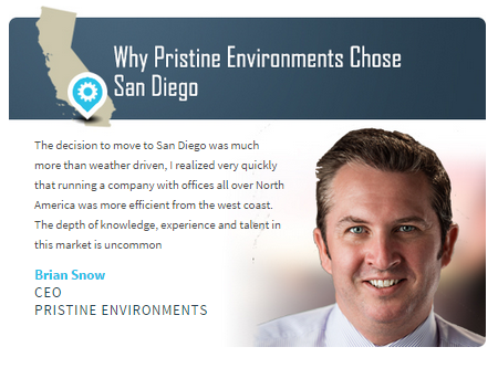 Why Pristine Environments Chose San Diego