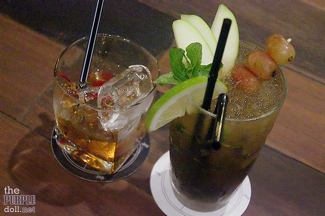 Detalle's Holiday Mojito (P280) and The Great Godfather (P360)