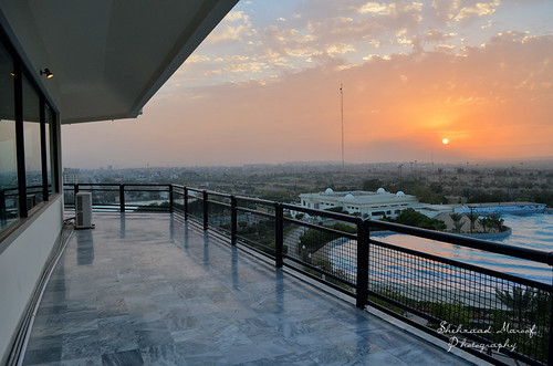 city pakistan sunset love pool nikon peace view terrace dream resort dreamworld karachi sindh