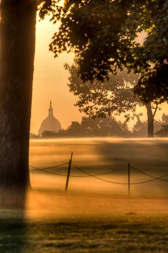 fog sunrise landscape dc background capitol
