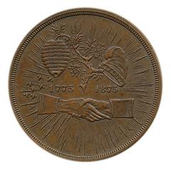 Mecklenburg declaration of independence centennial medal obverse