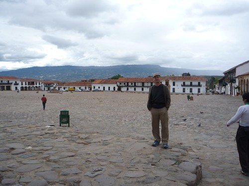 Kurt in one of the largest squares in South America