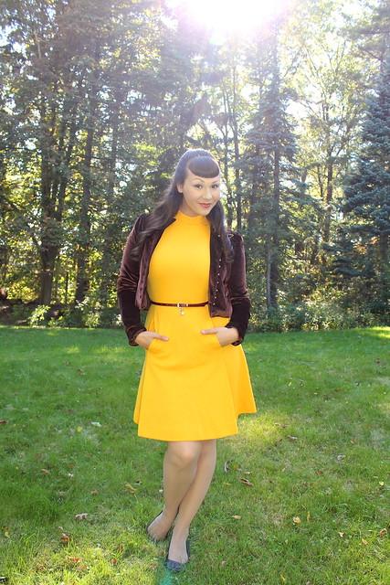 yellow vintage dress