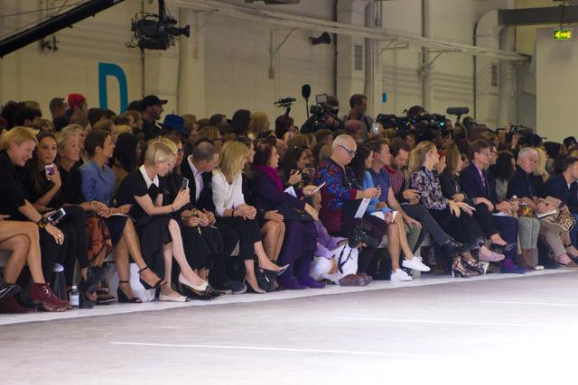 Topshop Unique SS15 front row London Fashion Week