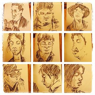 #japon #tokyo #portraits #metro #urbansketch #bolígrafo #sailor