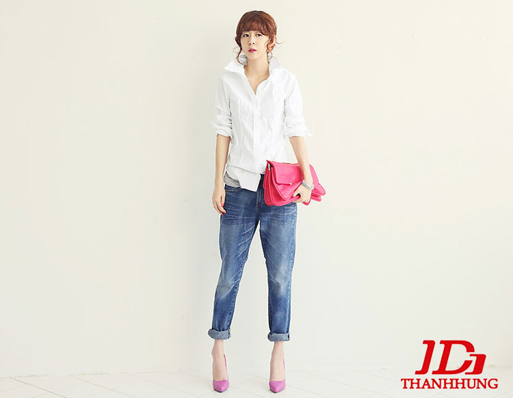 Mẫu quần jeans boyfriend nữ đẹp CỰC chất 7