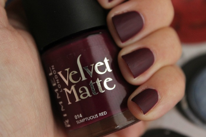 Rimmel Velvet Matte Nail Polish in 014 Sumptuous Red 1