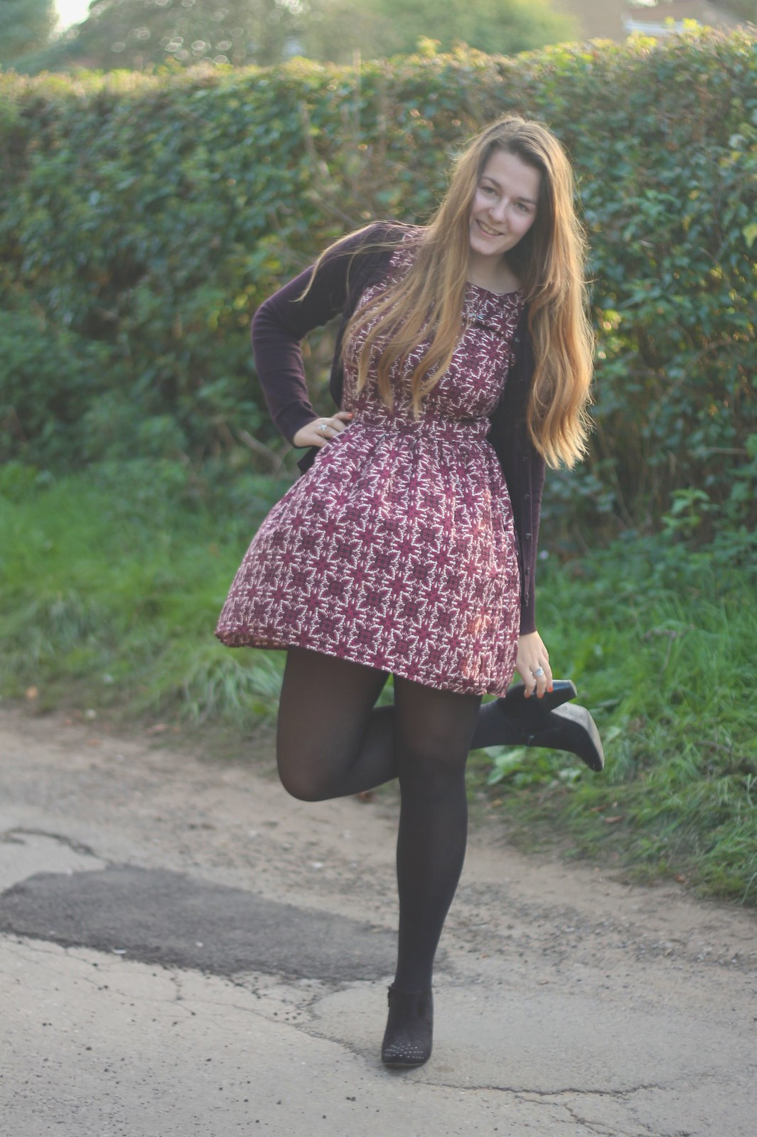 Autumn Paisley dress