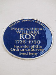 Photo of William Roy blue plaque
