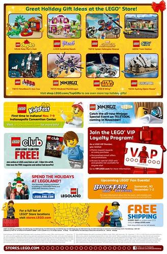 LEGO November 2014 Store Calendar