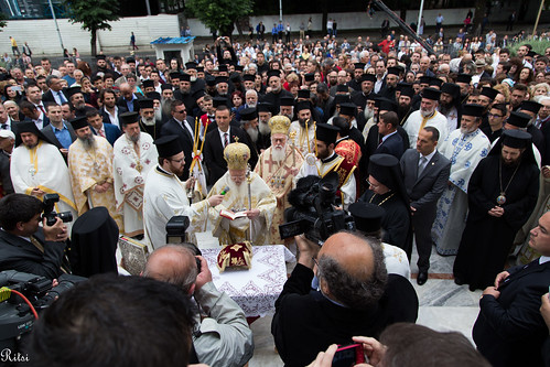 OCMC News - Resurrection of Christ Cathedral in Tirana Consecrated by His All-Holiness, the Ecumenical Patriarch Bartholomew I