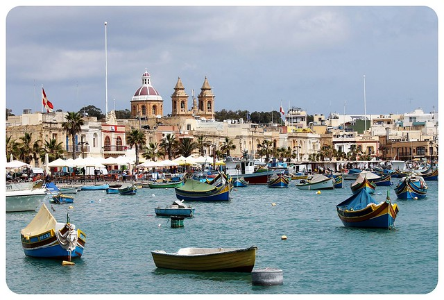 marsaxlokk with boats