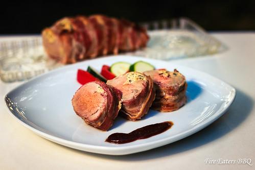 Schweinefilet mit Oliven-Frischkäse Füllung