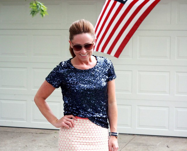 modest summer pencil skirt outfit via Kristina J blog