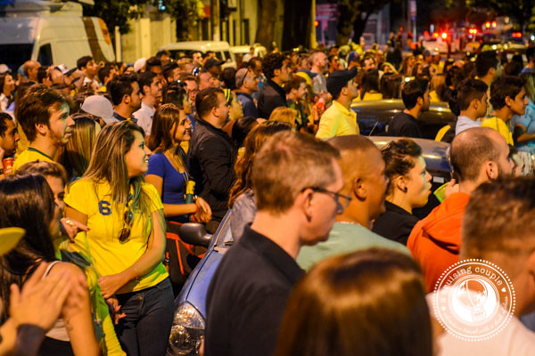 Brazilians in the Street Watching World Cup 2014