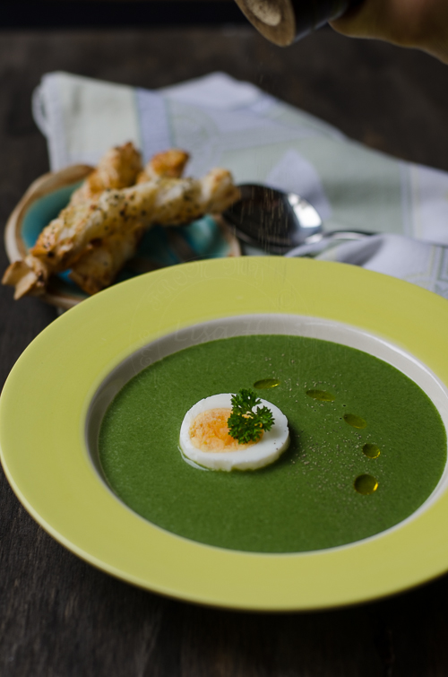 Hungarian Cream of Spinach Soup