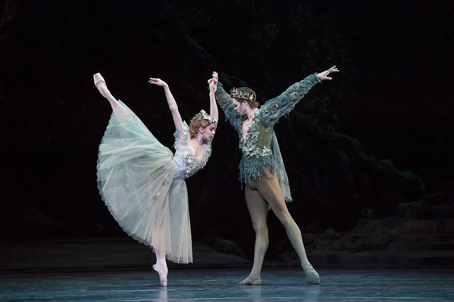 Natalia Osipova as Titania and Matthew Golding as Oberon in The Dream, The Royal Ballet, © ROH . Bill Cooper 2014
