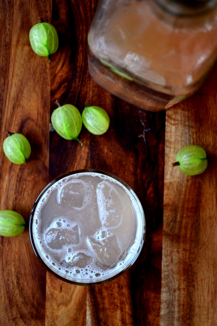 Gooseberry and Stem Ginger Cordial