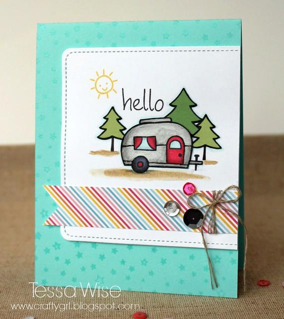 Hello Camper Card