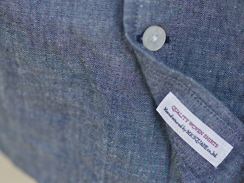 Manual Alphabet / B&W Chambray S/S B.D Shirt