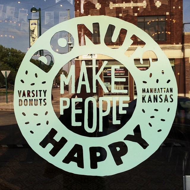 I so wish this @varsitydonuts photo wasn't a #latergram. Happy #NationalDoughnutDay anyway!